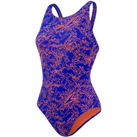 speedo Boom Allover Muscleback Badedrakt Dame Orange/Blå